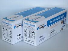 2PK Compatible Black Toners for Canon 104 fits L100 L120 MF4150 MF4350