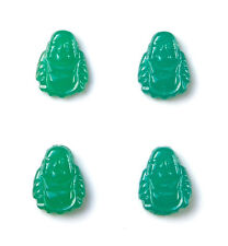 Genuine Vintage Japanese Green Glass Buddha Tuxedo Shirt Studs