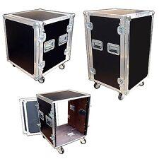 "10 Space 10 Sp 10u 3/8"" Plywood Ata Rack Case 18"" Deep w/Wheels! New!"