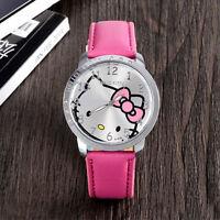 HELLO KITTY Children's Kids Watch for Kids Cartoon Quartz Wristwatch Analog Art