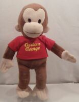 """Curious George Classic Plush Stuffed Toy Monkey Red Shirt  Russ 11"""""""