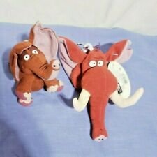 Disney Tarzan Tantor Elephant Treasure Keepers Plush Stuffed Key Chain Lot Of 2