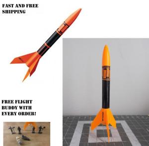 Estes Alpha III Flying Model Rocket 1256 Bulk Pack Kit New Sealed Black Orange
