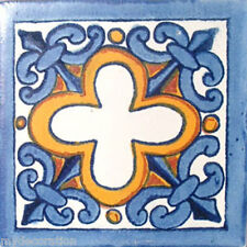 C#013) MEXICAN TILES CERAMIC HAND MADE SPANISH INFLUENCE TALAVERA MOSAIC ART
