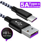 5A Fast Charging USB C Cable Phone Charger Data Micro USB Type C Cable HUAWEI