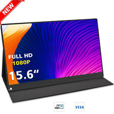 15.6 inch 1080P IPS Portable Monitor Fits HDMI Input Ultra Slim Laptop Phone PS4