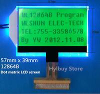 128X64 128 64 Dots Matrix Graphic LCD Module Display Screen Green Backlight LCM