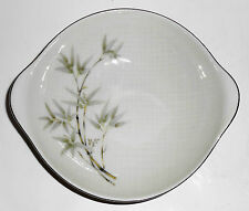 Seyei Porcelain China Textured Bamboo Celadon Tab Cereal Bowl