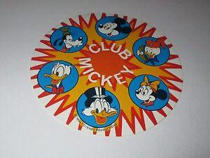Autocollant Disney / Club Mickey (Walt Disney productions) - diamètre: 10 cm