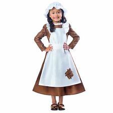 Girls Victorian Fancy Dress Poor Maid Book Day Week Kids Childrens Child Costume