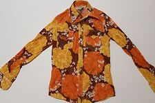 True Religion Men's Sample Floral Western Button Down Shirt. Size S. No Buttons.