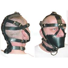 Fetish Roleplay Horse Harness Restraints Head Mask Headgear & Mouth Gag Collar