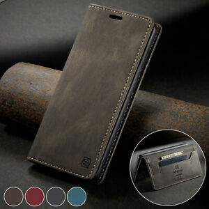 Hülle iPhone 6S/7/8/Plus/X/XR/XS Max 12 11 Pro Magnet Leder Handy Tasche Schutz