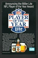 1989 Miller Lite NFL Player of the Year Award Advertisement