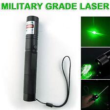 Green Light 532nm Military 301 Laser Pointer Pen Adjustable Focus Burning Torch