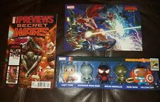 SDCC 205 Exclusive Marvel Secret Wars Keyrings-New plus more....Lady Thor ..