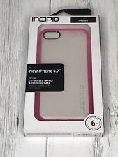 Incipio Octane Series Protective Case Cover for iPhone 8 7 - Frost / Pink