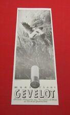 ADVERTISING PUB PUBLICITE ANCIENNE ADVERT 2.3 MUNITIONS GEVELOT OCCHIPINTI 1932