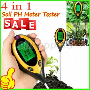 4 in1 LCD Digital Soil PH Meter Tester Temperature Sunlight Fertility Hygrometer