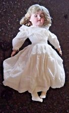 Antique Simon & Halbig K  R Bisque Girl Doll Blonde Hair Brown Eyes All Original
