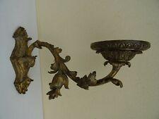 Très Grande Applique Bronze Louis XV Napoléon III XIXe Bec de Gaz
