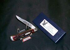 Schrade Redbone Knife SFO Little Bandit Parker Frost 1978-5 W/Custom Box Rare