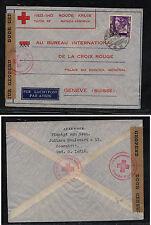 Netherlands  Indies  censor cover to Red Cross, Switzerland        KL0920