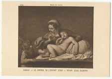 France - Paris, Musée du Louvre - Carracci, Infant Jesus Sleeping - Art Postcard