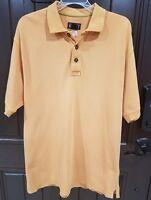 Patagonia Mens M Organic Cotton Orange Short Sleeve Spell Out Polo Shirt Medium