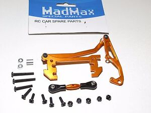 Yy-Madmax Axial SCX10 Aluminium Servo Support Panhard Barre Orange