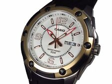 Casio MTP1327-7A1 Mens 50M Resin Analog Modern Dress Watch Quartz Two-Bezel