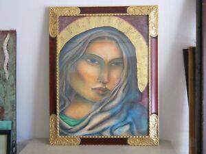 "Miguel Martinez ""Santa Clara of Assisi"" Signed Oil Pastel"