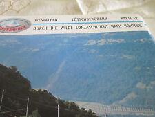 Alpenbahnen Westalpen K 12 Lötschbergbahn Goppenstein Lonzaschlucht Hohtenn