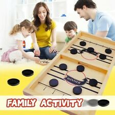 Slingshot Hockey Party Game : wooden hockey game