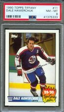 1990 Topps Tiffany Scoring Leaders #11 DALE HAWERCHUK Winnipeg Jets PSA 8