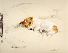 JACK RUSSELL TERRIER DOG LIMITED EDITION PRINT - Artist Proof # 23/85 - On Bed
