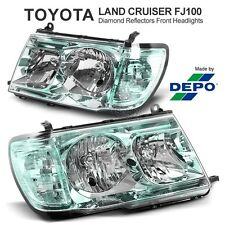 For TOYOTA Landcruiser 100 Series LX470 Diamond Reflector Green Headlights Lamp
