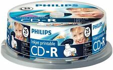 Philips CR7D5JB25/00 CD-R 80 minutos 700mb (52x) Inkjet Imprimible Huso Pack 25