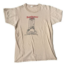 Vintage 70s Bawlamer Committee For A Livelier Baltimore Maryland Tee Tshirt S/XS