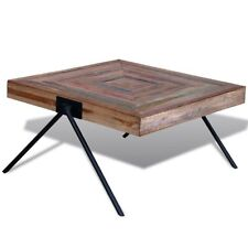 80cm Recycled Solid Wood Rustic Living Room Sofa Side Square Tea Coffee Table
