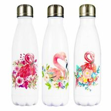 Flamingo Floral Design Stainless Steel Thermos Flask Hot Cold Water Bottle Drink