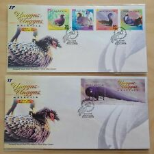 2000 Malaysia Birds Unggas 4v & MS on 2 FDC (Kuala Lumpur Cachet) Best Buy Offer
