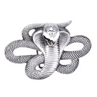 Mens Snake Cobra Animal Metal Alloy Cowboy Cowgirl Fashion Rock Belt Buckle ND