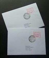 Tunisia 1992 ATM (Frama Label stamp FDC pair) *addressed *rare