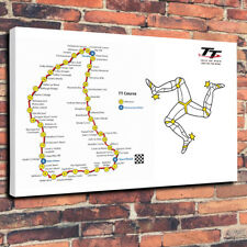 "Isle of Man TT Corso Moto STAMPA FOTO SU TELA A1.30""x20"" - 30 mm deep"