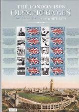 Londres 1908 Jeux Olympiques Smiler Feuille avec Certificat de Authenticité -