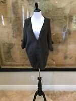 Theory Women's Olive Green Wool Blend Long Cardigan Sweater Size S/P