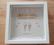 Personalised Friendship Best Friend Birthday xmas Gift Thank You, Box Frame
