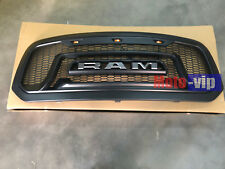 13-18 Dodge Ram 1500 Black Grille ABS Honeycomb Bumper Grill Mesh Rebel Style