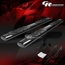 "BLACK 6"" OVAL STEP NERF BAR RUNNING BOARD KIT FOR 02-09 DODGE RAM CREW QUAD CAB"